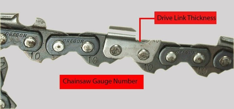 chainsaw gauge number